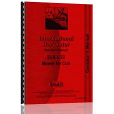 International Harvester 22 Sickle Bar Mower Operators Manual