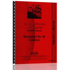 International Harvester 80 Combine Operators Manual