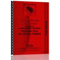 Mccormick Deering 15-30 Tractor Parts Manual (SN#  to 1929, TG99925) (to '29, TG99925)