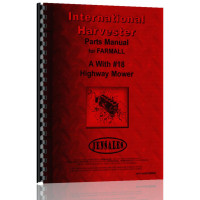 International Harvester A Tractor with #18 Highway Mower Parts Manual
