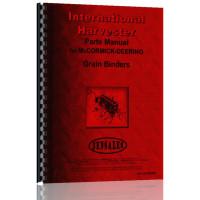 International Harvester C Grain Binder Parts Manual