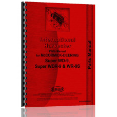 Mccormick Deering WR9S Tractor Parts Manual