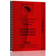 International Harvester TD18 Crawler Parts Manual (SN# 36101 and Up)