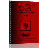 International Harvester TD24 Crawler Parts Manual (TD-24 Tractor)