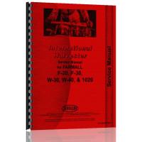 International Harvester F20 Tractor Supplement Service Manual