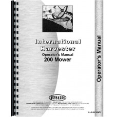 International Harvester 200 Mower Conditioner Operators Manual
