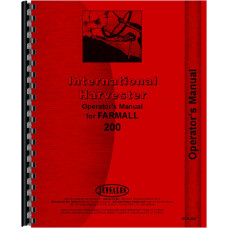 Farmall 200 Tractor Operators Manual