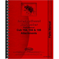 International Harvester 185 Cub Lo-Boy Tractor Attachments Parts Manual