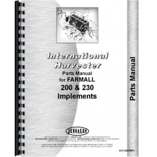 International Harvester 200 Tractor Implements Parts Manual