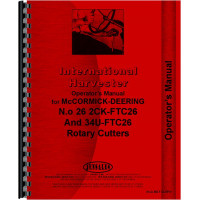 International Harvester Rotary Cutter Fast Hitch Operators Manual