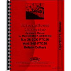 International Harvester 26 Rotary Cutter Operators Manual