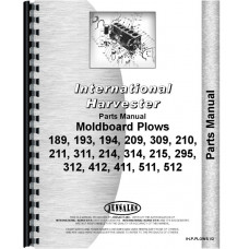 International Harvester 209 Plow Parts Manual