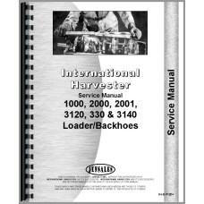 International Harvester 3000 Backhoe Attachment Service Manual