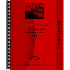 Farmall 404 Tractor Operators Manual