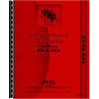 Farmall 404 Tractor Parts Manual