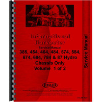 Farmall 574 Tractor Service Manual (1970-1978) (Chassis)