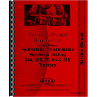 International Harvester 86 Hydro Tractor Service Manual (Hydro)