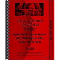International Harvester Hydrostatic Transmissions Service Manual