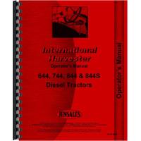 International Harvester 844 Tractor Operators Manual