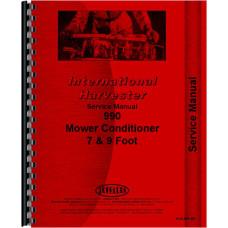 International Harvester 990 Mower Conditioner Service Manual