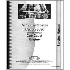 International Harvester Cub Cadet Lawn & Garden Tractor Engine Service Manual