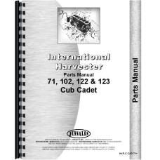 International Harvester Cub Cadet 122 Lawn & Garden Tractor Parts Manual