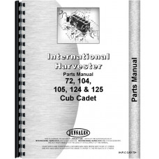 International Harvester Cub Cadet 124 Lawn & Garden Tractor Parts Manual
