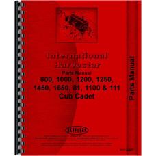 International Harvester Cub Cadet 1650 Lawn & Garden Tractor Parts Manual