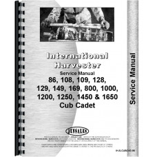 International Harvester Cub Cadet 86 Lawn & Garden Tractor Service Manual (Chassis)