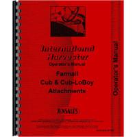 Farmall Cub Tractor Attachments Operators Manual (Attachments)