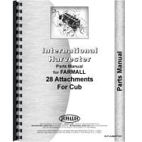 Farmall Cub Lo-Boy Tractor Attachments Parts Manual (with Attachments)