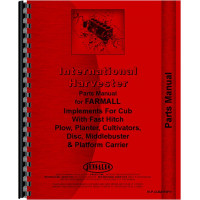 Farmall Cub Tractor Fast Hitch Attachments Parts Manual
