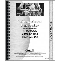 International Harvester 350 Tractor Engine Service Manual (Diesel)