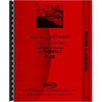 International Harvester F20 Tractor Operators Manual