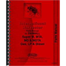 Farmall Super MDVTA Tractor Parts Manual