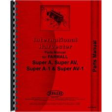 Farmall Super A Culti-vision Tractor Parts Manual