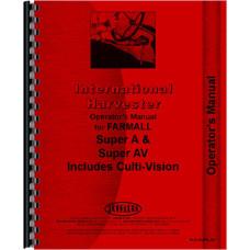 Farmall Super AV Culti-vision Tractor Operators Manual