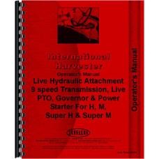 Farmall H Tractor Accessories Supplement Operators Manual