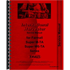 Farmall Super MVTA Tractor Service Manual