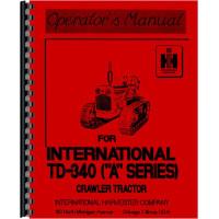 International Harvester TD340 Crawler Operators Manual