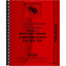 International Harvester TD6 Crawler Drott Shovel Loader Attachment Parts Manual
