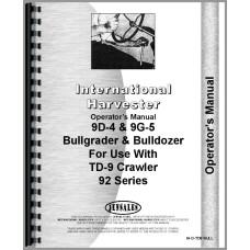 International Harvester TD9 Crawler Bulldozer Attachment Operators Manual (Series)