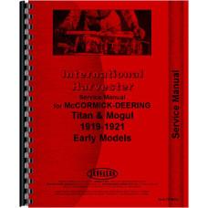 Mccormick Deering 20-10 Tractor Service Manual (Mogul)