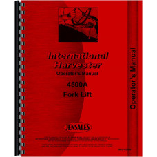 International Harvester 4500A Forklift Operators Manual