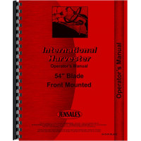 """International Harvester Cub Tractor 54 Blade Attachment Operators Manual (54"""" Front Mounted Blade for Cub)"""