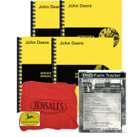 John Deere 830 with Pony Diesel Deluxe Tractor Manual Kit