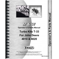 John Deere 4020 Tractor Turbo Kit Operators & Parts Manual