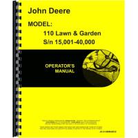 John Deere 110 Lawn & Garden Tractor Operators Manual (Sn 15,001-40,000)