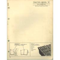 John Deere R Tractor Parts Manual (NOS)