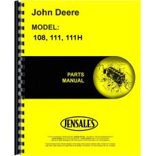 John Deere 108 Lawn & Garden Tractor Parts Manual